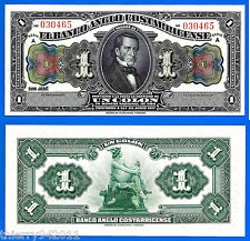 Costa Rica 1 Colon 1917 Unc Central America Paypal Free Shipping Worldwide