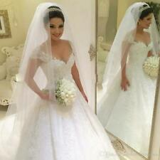 Ball Gown Princess Plus Size Wedding Dress 2018 Bride Gown Ivory Lace