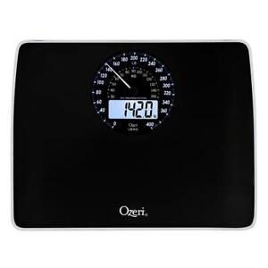 Ozeri Digital Bathroom Scale Body Weight Weighing Electro Mechanical Dial Black