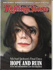 Michael Jackson Final Days Rolling Stone Magazine August 6 2009 Collectors Item