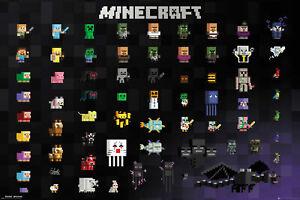 Minecraft Pixel Sprites - Poster 91,5x61 cm