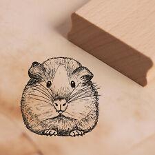 Stempel Holzstempel - süßes Meerschweinchen Tier Motivstempel Abdruck 38x37mm ❤️
