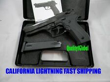 NEW BLACK FULL/SEMI AUTO METAL BERETTA 92 Replica MOVIE PROP Pistol Gun Training