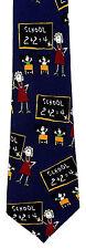 Basic Math Mens Necktie School Teacher Teaching Education Blue Neck Tie New