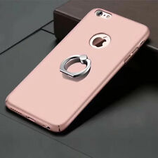 For iPhone 7 8 rose gold  X PC Hard Phone Cover Case With Ring Stand Holder KY