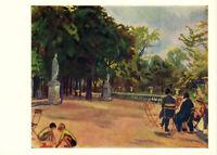1966 Russian postcard JARDIN LUXEMBOURG IN PARIS by Zinaida Serebryakova
