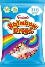 LARGE 32g BAG RAINBOW DROPS x 10, RETRO SWEETS & PARTY BAG FILLERS