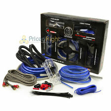 Bullz Car Audio Blue 4 Gauge Pro AMP / Amplifier Power Wiring Kit PPAK4BL