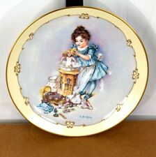 Playing Mama Maud Humphrey Bogart Little Ladies 1989 23K Gold Collector Plate