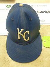 Rare 1985 Don Slaught Signed Game Used Kansas City Royals Baseball Hat Cap