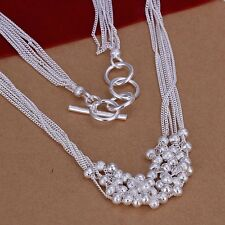 925 Sterling Silver Necklace Pendant Balls B69