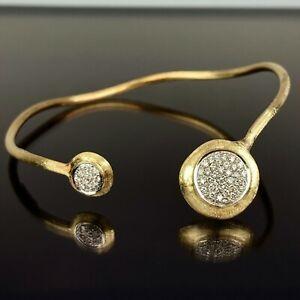 "Marco Bicego 18k Yellow Gold Diamond Circle Bangle 6.5"""