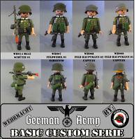 CUSTOM EJERCITO ALEMAN  WW2 GUERRA MUNDIAL SOLDADO GERMAN SOLDIER PLAYMOBIL WAR