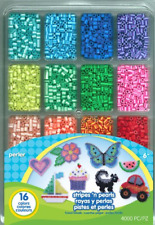Perler Beads Stripes And Pearls Assorted Fuse Beads Tray For Kids Crafts, 4000