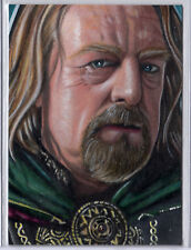 LORD OF THE RINGS PSC SKETCH CARD - Théoden by Javier Gonzales - Stunning Detail