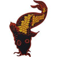 Japanese Koi Carp Fish Embroidered Iron / Sew On Patch T Shirt Jacket Hat Badge