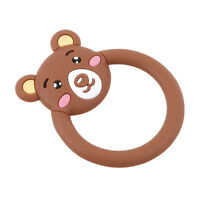 Silicone Animal Teether Ring Baby Toddler Soother Chewable Teething Toy DB
