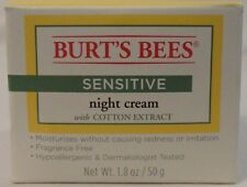 Burt's Bees Sensitive Night Cream Hypoallergenic Fragrance Free Allergy Tested