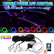 Phone App Control Rgb 4 Led Car Door Dash Ambient Light 6m Neon Strip