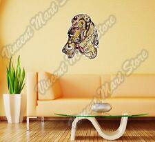 "Cocker Spaniel Dog Head Hunting Abstract Wall Sticker Room Interior Decor 18X25"""