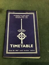 More details for lner & london underground 1947 timetable