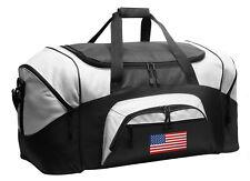American Flag Duffle USA Gym Bag or Travel Duffel WELL MADE - LOADED W/ POCKETS!