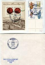 DDR - FDC - Böttger-Ehrung 1982 - Brief, Block, Satz mit Meissn. ET-Stempel