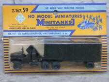 Roco Minitanks (NEW) WWII GMC Semi 6T Closed Van Cargo Trailer Lot #3536