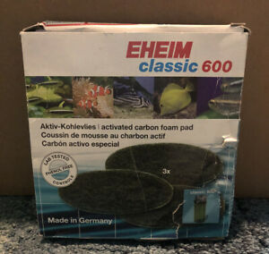 EHEIM Carbon Filter Pads, Classic 600 - Pack Of 3