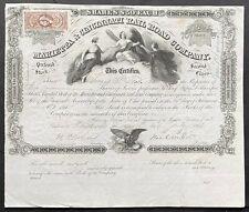 MARIETTA & CINCINNATI RAILROAD Stock 1863. Important So. Ohio RR ABNC BEAUTY VF+