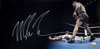 Mike Tyson Signed 12x27 Panoramic Knock Out Photo JSA ITP