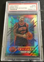 GRANT HILL 1994 FINEST REFRACTOR ROOKIE W/COATING #240 PSA 9 PISTONS (423)