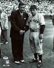 Yankees Yogi Berra Firmado Auténtico 11X14 foto con Babe Ruth Psa/dna