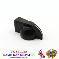6mm Push on Knob for Potentiometer Plastic Cap Black 14mm