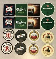 16 Beer Mats Pack - Beer Coasters - Home Bar / Home Pub