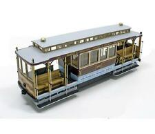 """Elegant, finely detailed model tram kit by OcCre: the """"San Francisco Cable Car"""""""