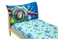 Disney Toy Story Power Up 2 Pack Fitted Sheet and Pillowcase Toddler Sheet Set,