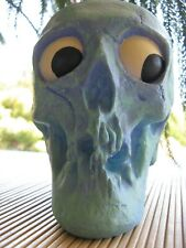 "Rare Randotti ""Silly Hairy"" Blue/Purple Still Glows Skull-No Hair-Painted Eyes"