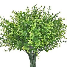 16pcs Artificial Shrubs Faux Plastic Leafy Greenery Imitation Plants for Decor
