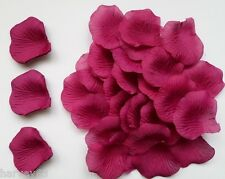 200 DEEP PLUM Silk Rose Petals  For Engagement~Wedding~Birthday~Celebrations