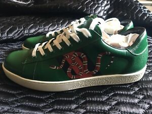 Gucci Ace Mens Low Snake (Green)