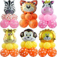 10Pcs/set Jungle Animal Foil Balloon Helium Birthday Party Decorations Supplies