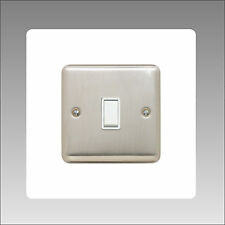 2 X SINGLE LIGHT SWITCH WHITE / CLEAR FINGER PLATE BACK SURROUND - MADE IN UK