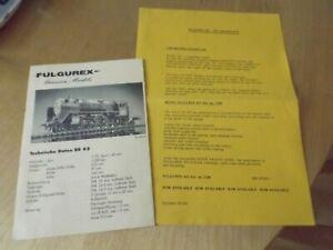 fulgurex / aster model railway pacific 231 & BR 62 locomotives model leaflets