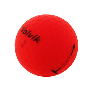 12 Volvik Vivid Matte Red Near Mint Used Golf Balls AAAA *SALE!*