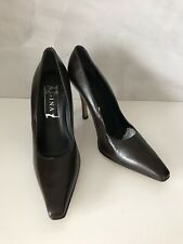 """💯 Genuine Ladies Brown Leather Gina Heels Shoes Size Uk 6"""" ****NEW****"""