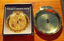 """Brass Pocket Change Dish Coin Toss $ 5 7/8"""" Diameter Plate"""