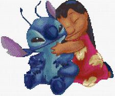 Lilo & Stitch abrazo puntada cruzada contada Kit de película de personajes de Disney