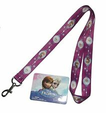 Disney Frozen Anna and Elsa Cute Purple Lanyard-1 count #334441