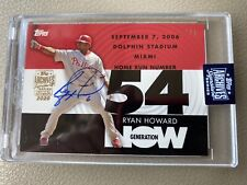 2020 Topps Archives Generation Now AUTO Ryan Howard / 1/1 On Card Auto